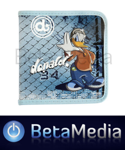 Disney Donald Duck 2 CD / DVD Storage Wallet Case Holds 24 discs