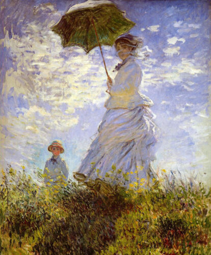 """Oil painting Claude Monet The Woman With The Parasol child no framed canvas 36"""""""