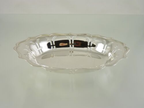 SCALLOPED RIM PIERCED OVAL NUT OR BON BON  BOWL BY C ? BIRMINGHAM 1964