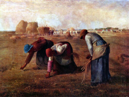 Dream-art Oil painting Millet The Gleaners Busy farmers in the harvest season