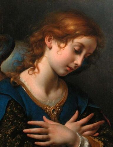 Dream-art Oil painting Carlo Dolci Angel for Coronation of the Virgin canvas art