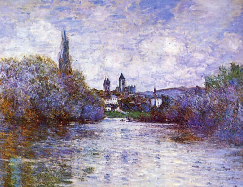 Huge Oil painting Claude Monet - The Small Arm of the Seine at Vetheuil canvas