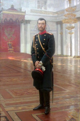 Oil painting REPIN ILIYA EFIMOVICH - Male portrait Nicolas II of Russia canvas