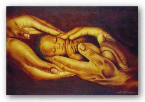AFRICAN AMERICAN ART PRINT A Gift From God Fred Mathews 24x36