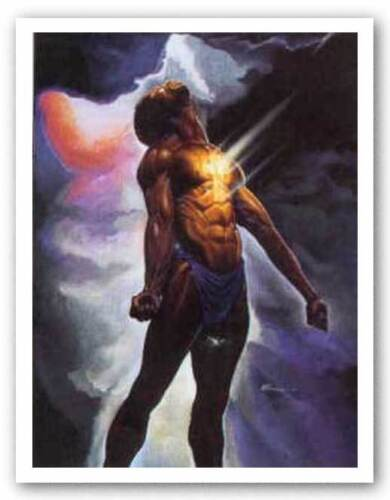 AFRICAN AMERICAN ART PRINT God Is In Me Kevin Williams WAK