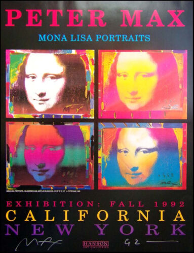 """Peter Max """"Mona Lisa"""" HAND SIGNED by P.MAX poster Make an Offer!!!!!"""