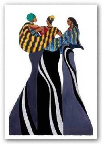 Sisters In Grace by Albert Fennell African-American Signed Art Print 19x27