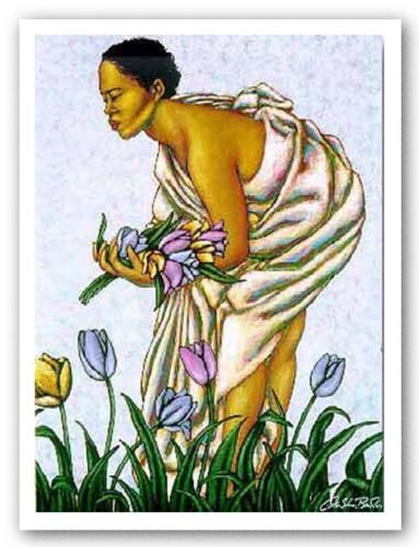 Tulips II by LaShun Beal African-American Limited Edition Art Print 17x22
