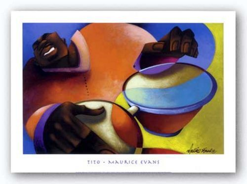 Tito by Maurice Evans African-American Music Art Print 28x21