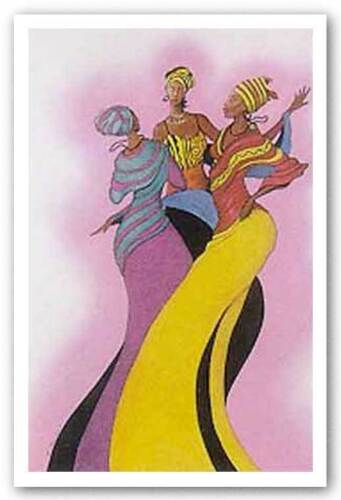 Sisters in Dance by Albert Fennell African-American Signed Art Print 23x32