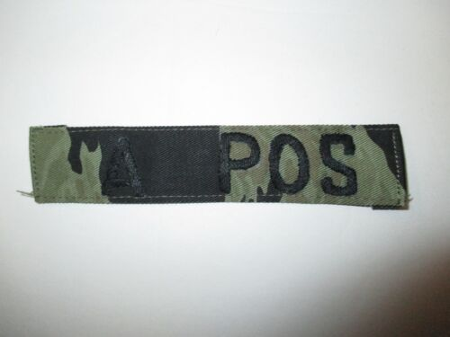 b4136 Vietnam US Special Forces SOG Blood Type Tape  A POS on Tiger Stripe IR37AReproductions - 156445