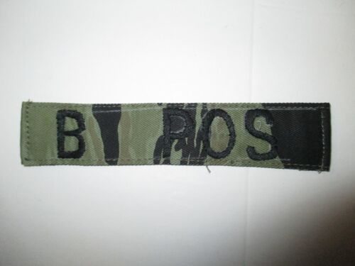 b4137 Vietnam US SF Special Forces SOG Blood Type Tape  B POS Tiger Stripe IR37AReproductions - 156445