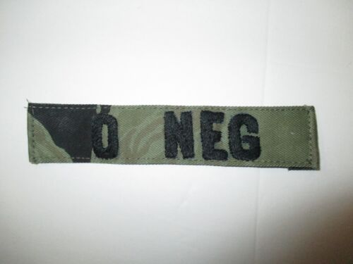 b4140 Vietnam US SF Special Forces SOG Blood Type Tape O NEG Tiger Stripe IR37AReproductions - 156445