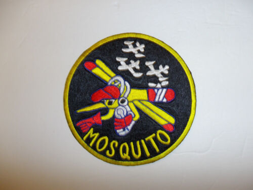 b4166 Korea US Air Force 6147th Tactical Control Group Patch Mosquito yellow R8DReproductions - 156441