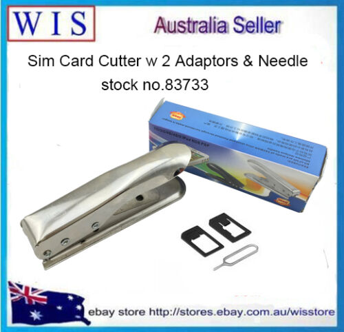 MOBILE PHONE MICRO SIM CARD CUTTER PUNCH for iPhone 4 4G iPad with ADAPTOR-83733