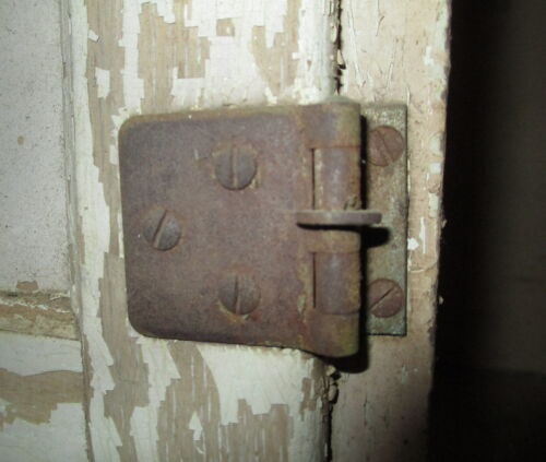 SELLERS CABINET DOOR HINGE & SCREWS ORIGINAL SELLERS MIDDLE DOOR HOOSIER CABINET