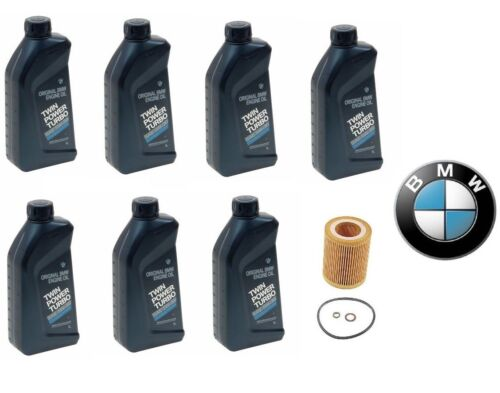 7-Quarts Genuine BMW Synthetic 5w30 Motor Oil &1-Oil Filter For BMW NEW
