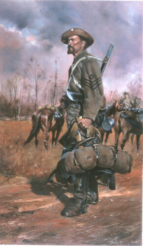 """""""One of Forrest's Men"""" Don Troiani Civil War Canvas Giclee"""