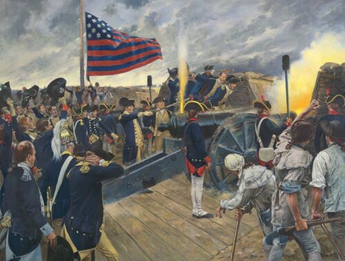 """""""Artillery of Independence, Siege of Yorktown, Virginia 1781"""" Don Troiani A/P"""