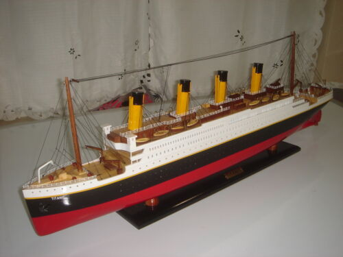 """Titanic high quality wooden model cruise ship 32"""" fully assembly"""