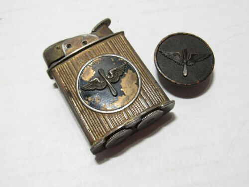 RARE WW2 AIR FORCE PROP + WINGS EVANS SPITFIRE LIGHTER 19023 + PROP WINGS PINOther Militaria - 135