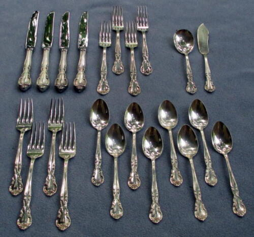 Easterling Sterling Silver Flatware Set - American Classic - 22 Piece Set