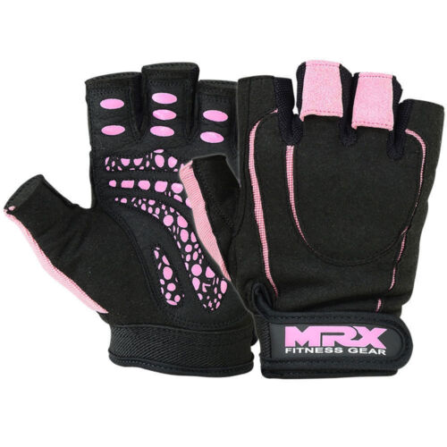Women Weight Lifting Gloves Gym Fitness Training Ladies Pink Black S-X Large MRX