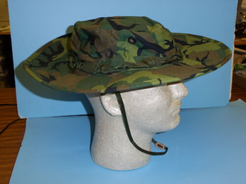 erdlh59 US Military Vietnam Wide Brim ERDL Boonie Hat size 59 / 7 3/8Reproductions - 156445
