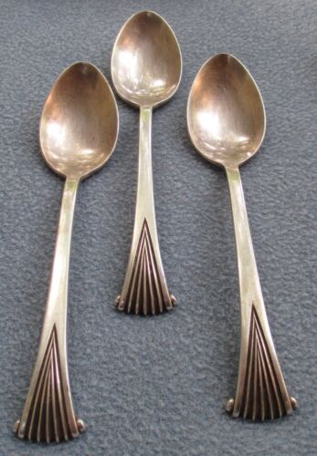 Three Tuttle Sterling Silver Onslow Teaspoons