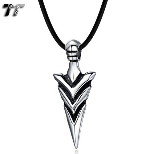 Quality TT 316 Stainless Steel Spear Pendant Necklace (NP296) NEW