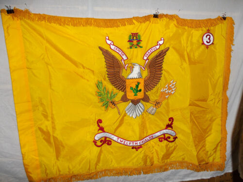 flag477 US Army Vietnam flag Twelfth 12th Cavalry Regiment 3rd Squadron W10BReproductions - 156449
