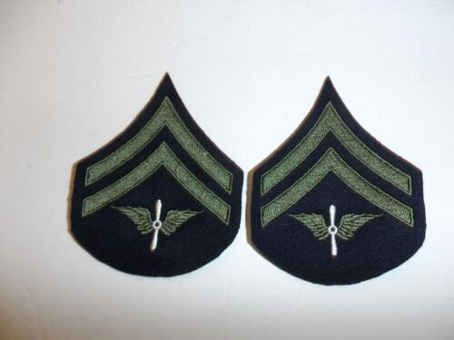 b1557p 1930's-WW2  US Army unofficial Army Air Corp Corporal chevron pair R1DReproductions - 156372