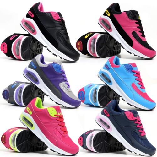 Ladies Running Trainers New Womens Shock Absorbing Fitness Gym Sports Shoes Size
