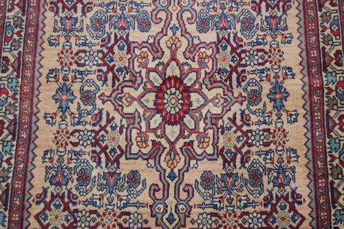 c1930s ANTIQUE HIGHLY DETAILED BIJAR RUG 2.6x4.4 CLASSIC VILLAGE WOVEN