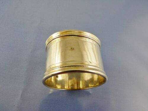 """PLAIN RINGS STERLING NAPKIN RING BY ?? LONDON ?? """"as is"""""""