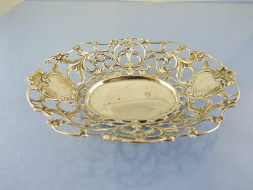 OPEN LATTICE SCROLL OVAL BOWL 800 SILVER BY unbranded SPAIN