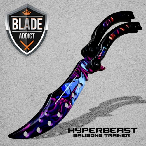 CSGO Practice Knife Balisong Butterfly Trainer Blade - Non Sharp Dull - HYPBEAST