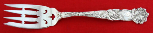BRIDAL ROSE by Alvin Sterling Silver VINTAGE SALAD FORK