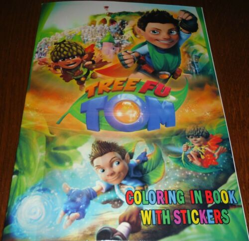 TREE FU TOM 16 PAGE COLORING BOOK WITH STICKERS (BRAND NEW)