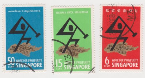 SINGAPORE - 1968 National Day stamp set, used (S28)