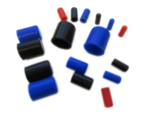 Silicone Blanking Plugs (End Caps, Pipe Finisher) 4mm - 25mm ID Sizes, 3 Colours