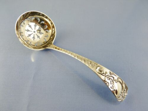 ORNATE VICTORIAN SUGAR SHAKER or SIFTER SPOON BY B B reversed