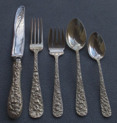 Stieff Sterling Silver Rose Five Piece Place Setting