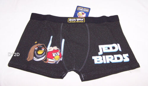 Angry Birds Star Wars Jedi Mens Black Printed Trunk Brief Size XL New
