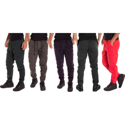 Alta Fashion Men's Casual Jogger Pants with Expandable Waist - Multiple Colors