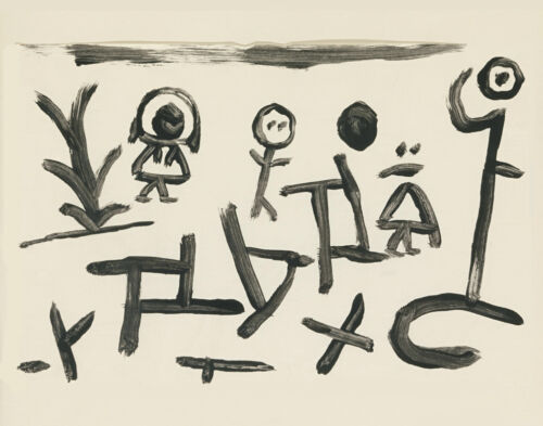Paul Klee Children And Abstractions Canvas Print 16 x 20   #3009