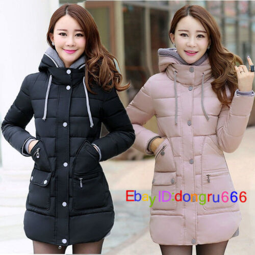 New Women's Winter Jacket Long Coat Hooded Down Jacket Ladies Warm Parka S-XL