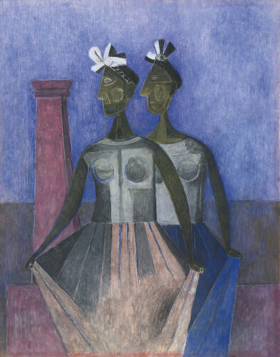 Tamayo Rufino The Dancers Of The Itzmo Canvas 16 x 20   #5582