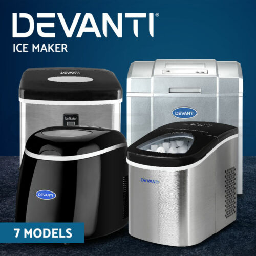 Devanti Ice Maker Machine Commercial Portable Ice Cube Tray Bar Countertop <br/> Rapid Ice Making / Energy Saving / Quiet Operation
