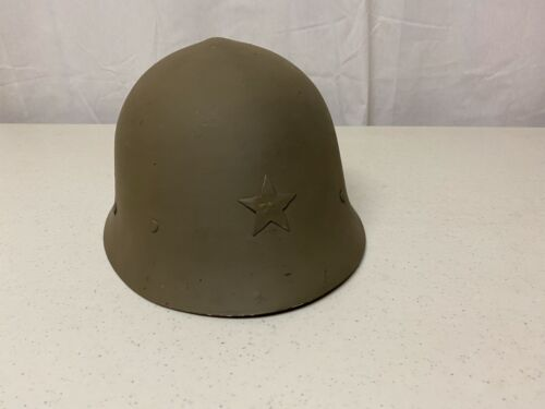 hj02 WW2 Japanese Japan Steel Helmet with liner & chin strap converted Swiss W8AOther WWII Reproductions - 156438